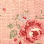 綿麻洗い  バラと小花